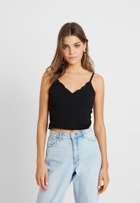 Nly by Nelly - CAMI TANK - Linne - black - 0