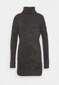 Abercrombie & Fitch - TEXTURAL CREW DRESS - Jumper dress - dark gray heather - 4