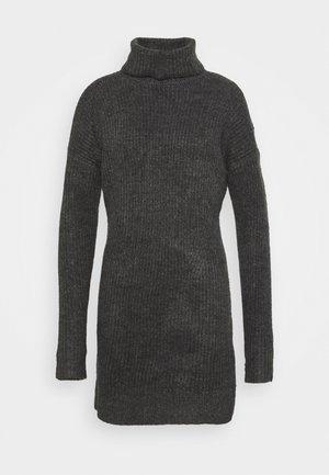 TEXTURAL CREW DRESS - Vestido de punto - dark gray heather