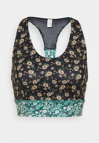 Free People - PRINTED SYNERGY CROP - Light support sports bra - black combo - 4