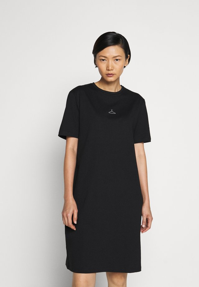 SWAN DRESS - Robe en jersey - black