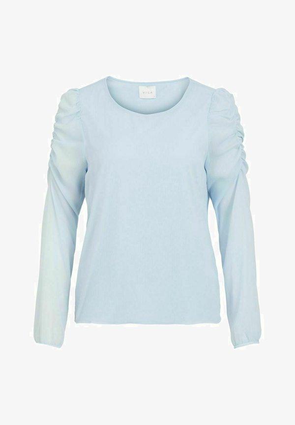 Vila VIBERIN ONECK - Bluzka z długim rękawem - cashmere blue/jasnoniebieski FKTA