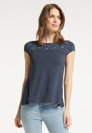 ESET - Print T-shirt - navy