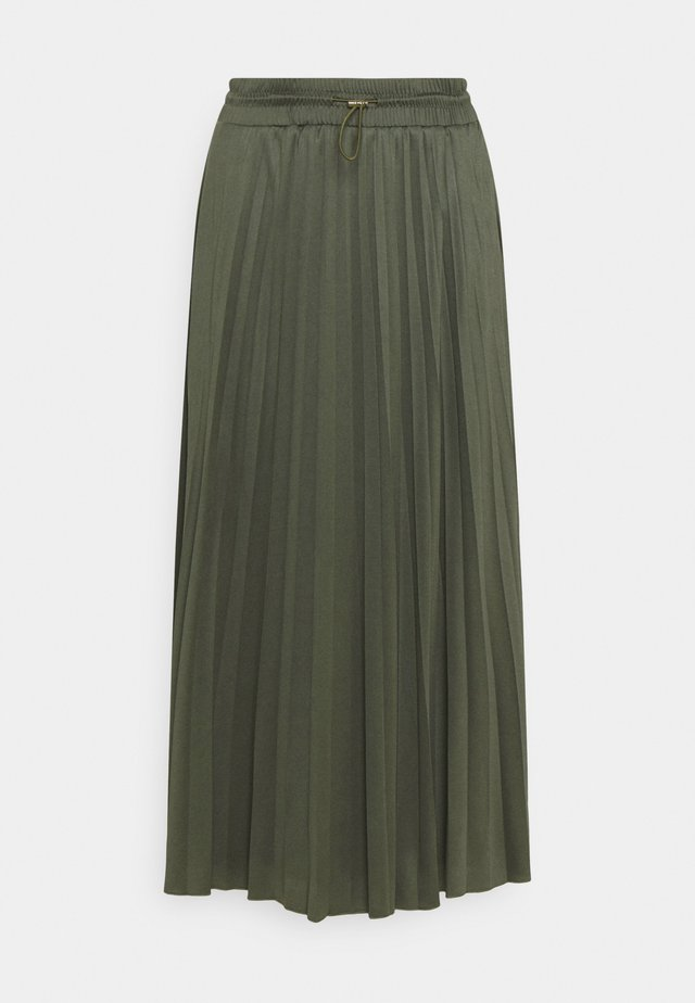 SKIRT MODERN PLISSEE - Jupe longue - deep leaf green