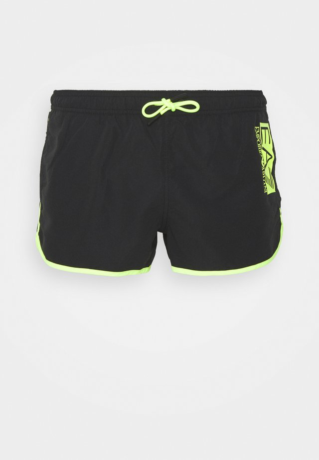 SEA WORLD FLUO LOGO - Shorts da mare - nero