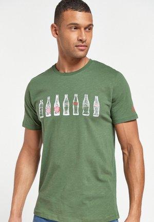 LICENCE  - Print T-shirt - khaki