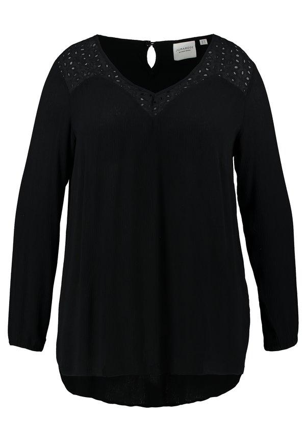 JUNAROSE - by VERO MODA JRALISA BLOUSE - Bluzka - black Kolor jednolity Odzież Damska VMEY EG 1