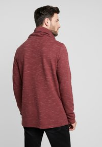 edc by Esprit - FUNNEL NECK TEE - Long sleeved top - bordeaux red - 2