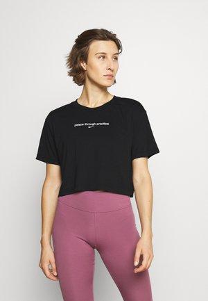 CROP YOGA - T-Shirt print - black