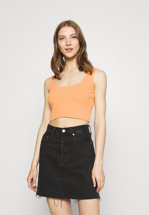 SQUARE NECK CROP 2 PACK - Top - orange/black
