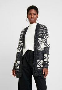 GAP - FAIRISLE OPEN - Cardigan - dark charcoal - 0