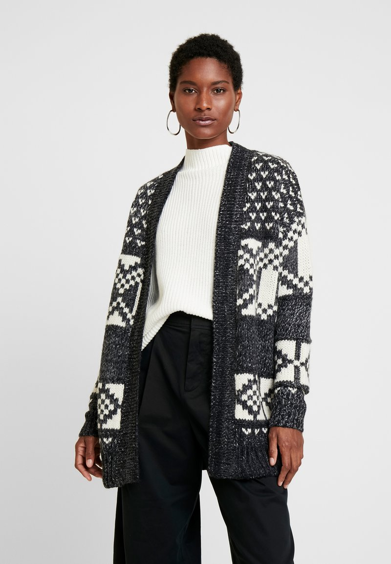 GAP - FAIRISLE OPEN - Cardigan - dark charcoal