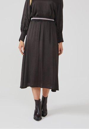 MELILA DOTS VIS 520 - A-line skirt - bitter chocolate