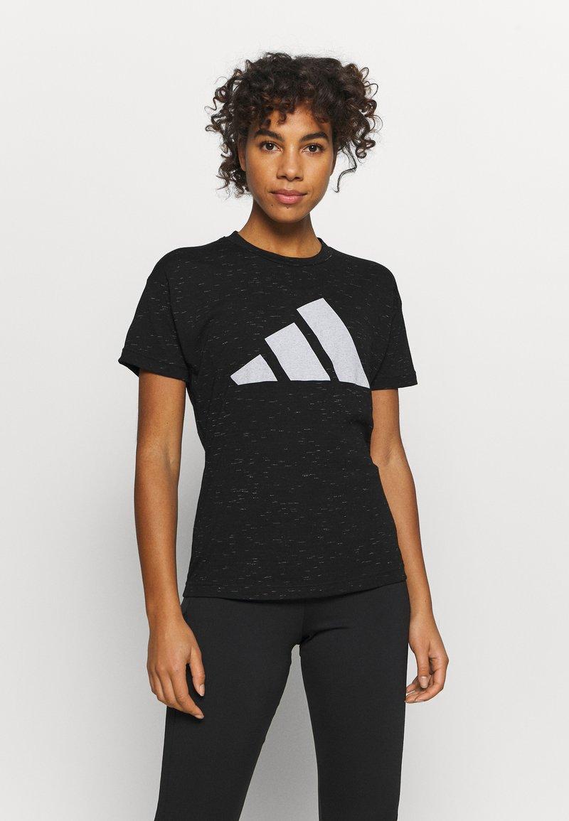 adidas Performance - WIN 2.0 TEE - T-shirt imprimé - black melange