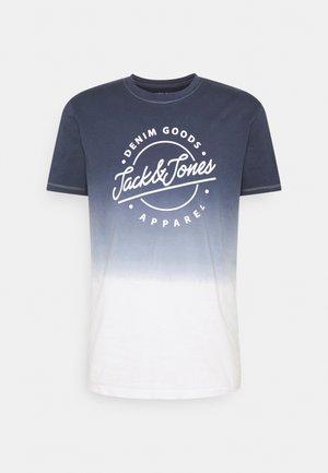 JJTIM TEE CREW NECK - T-shirt con stampa - navy blazer
