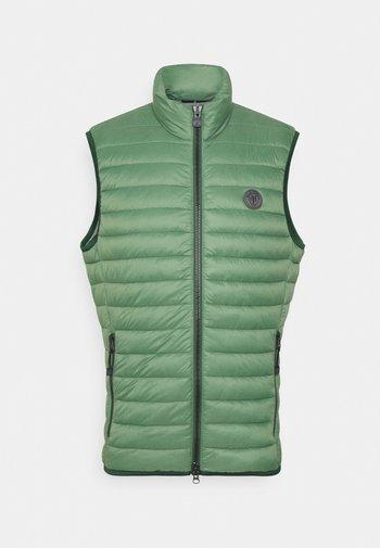 REGULAR FIT - Waistcoat - basalt green