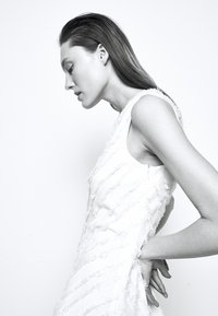 Proenza Schouler White Label - FRINGE FIL COUPE DRESS - Vapaa-ajan mekko - cream - 4