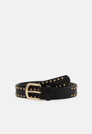 PCNULLE JEANS BELT - Pásek - black/gold-coloured