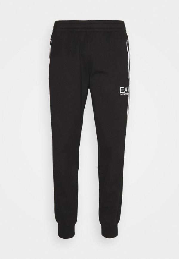 EA7 Emporio Armani Spodnie treningowe - black/white/czarny Odzież Męska RNGL