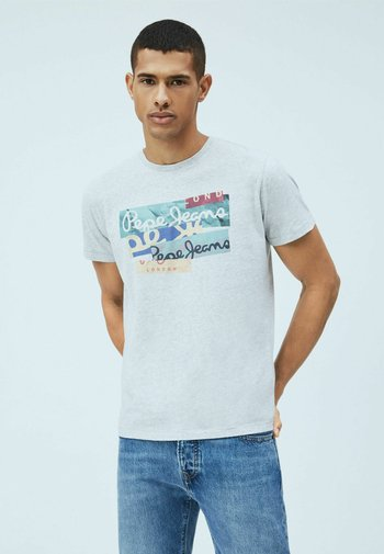 MIG - Print T-shirt - gris marl