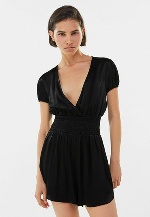 WITH CROSSOVER NECKLINE  - Jumpsuit - black
