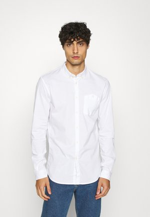 YARN DYED POPLIN - Camicia - white