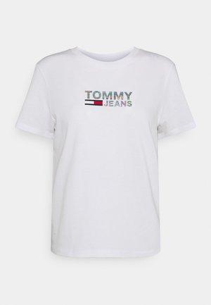METALLIC CORP LOGO TEE - T-shirts med print - white