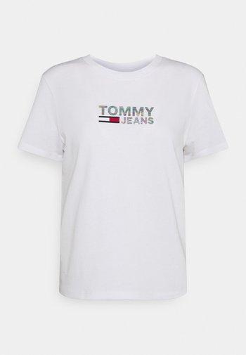 METALLIC CORP LOGO TEE - Print T-shirt - white