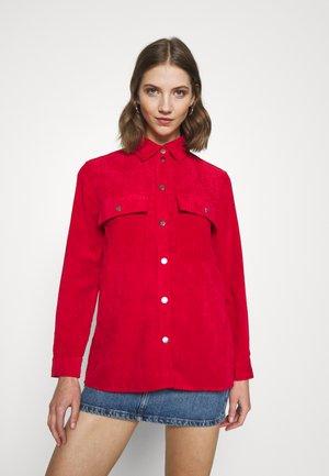 CORY - Button-down blouse - salsa
