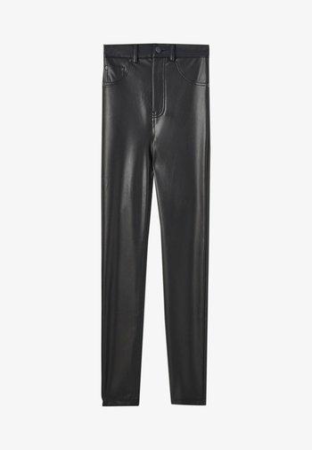 SKINNY-FIT - Leggings - mottled black