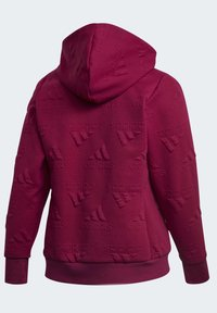 adidas Performance - AEROREADY JACQUARD FULL-ZIP LOGO HOODIE (PLUS SIZE) - Sudadera con cremallera - purple - 12
