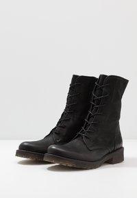 Felmini - CASTER - Lace-up ankle boots - morat black - 4