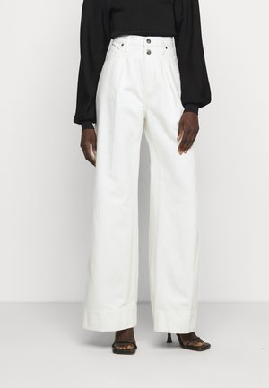 MOSAIC PLEATED  - Relaxed fit jeans - vintage white
