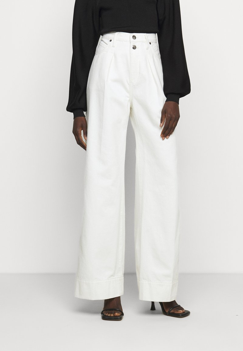 Frame Denim - MOSAIC PLEATED  - Relaxed fit jeans - vintage white