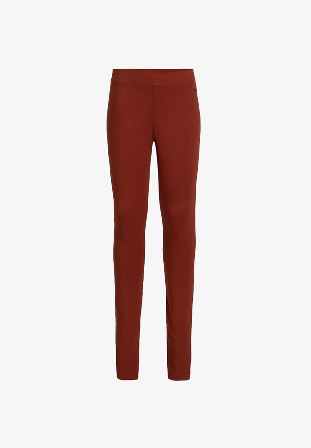 Leggings - Trousers - rust brown