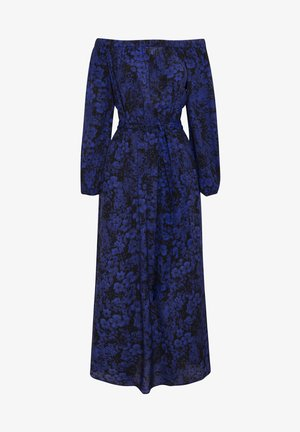 OFF-THE-SHOULDER TWO-TONE DRESS 31998115 - Korte jurk - blue