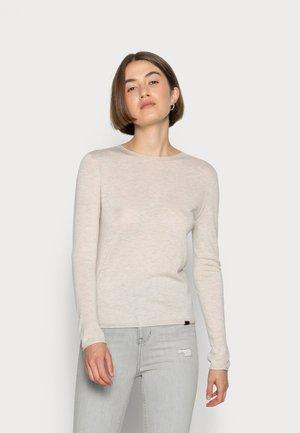 VIELHALF ROUND SEAMLESS WOMAN - Stickad tröja - linen melange