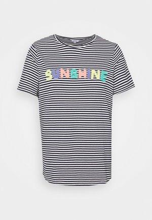 SUNSHINE SLOGAN - Print T-shirt - navy/white