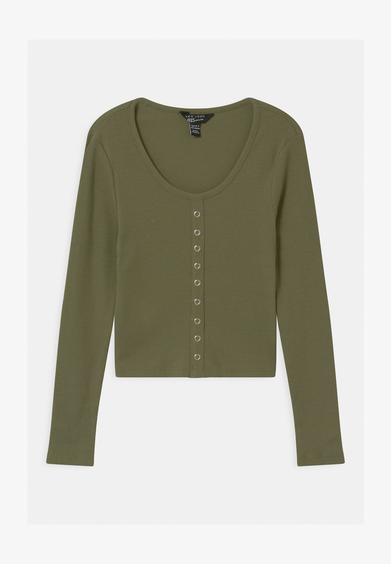 New Look 915 Generation - POPPER FRONT - Long sleeved top - khaki