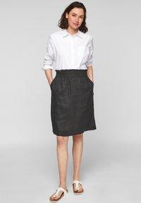 s.Oliver - A-line skirt - black melange - 1