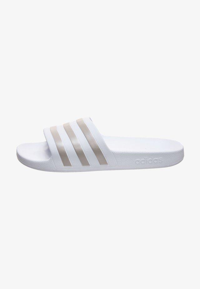 ADILETTE AQUA SWIM - Chanclas de baño - footwer white / platin metallic
