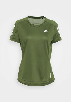OWN THE RUN TEE - Printtipaita - khaki