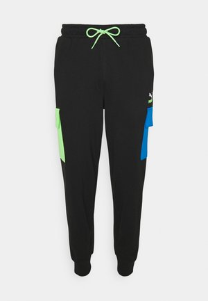 PANTS - Trainingsbroek - black/green/blue