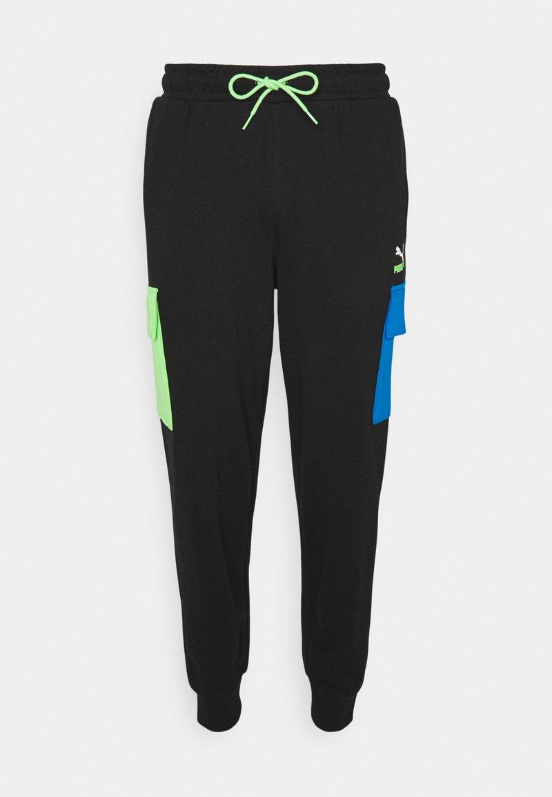 Puma - PANTS - Tracksuit bottoms - black/green/blue