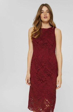 Shift dress - bordeaux red