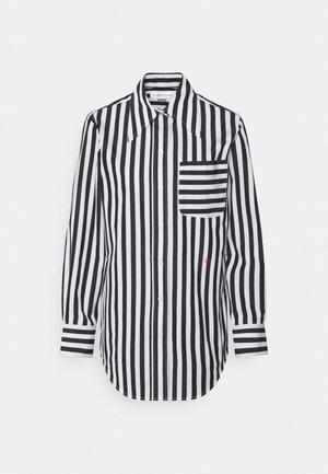 POINTED COLLAR SHIRT - Blūze - black/white