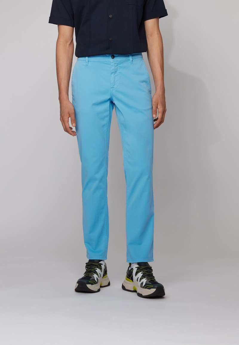 BOSS - REGULAR FIT - Trousers - turquoise