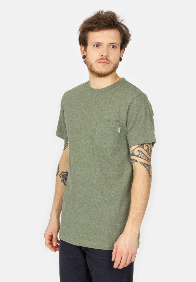 BLAKE - T-shirt basic - olive melange