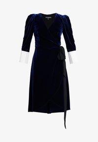 Allen Schwartz - VIVIENNE MIDI WRAP DRESS - Day dress - navy - 5