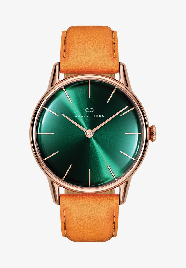 UHR SERENITY GREENHILL LEATHER 32MM - Ure - sunray green